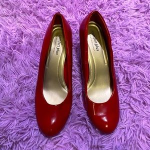 Comfort Plus by Predictions Red Patent Heels~11W👠